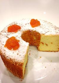 柿のシフォンケーキ
