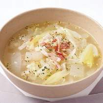 ダブルねぎのマスタードスープ