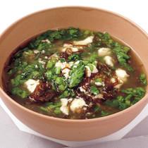 もずくとくずし豆腐のスープ