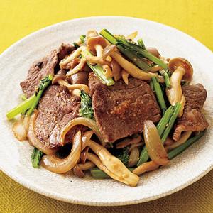 牛肉と小松菜のみそ炒め