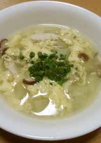 15分でできる冬瓜の中華風スープ