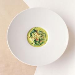 かにと菜の花のスープ