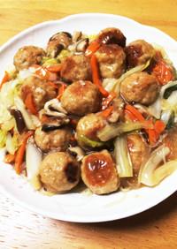 白菜と肉だんごの中華風うま煮