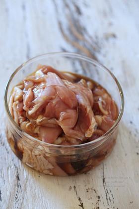 味付け冷凍:鶏のにんにく醤油漬け