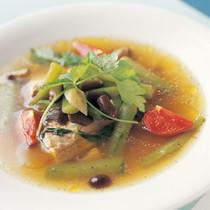 さばときゅうりのスープ