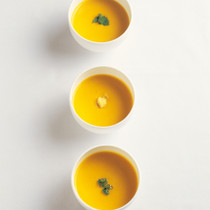 しょうがの香りのカボチャスープ