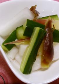 簡単ヘルシー♪みょうがと野菜の甘酢漬け。