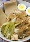 鶏のみぞれ煮と高野豆腐のダイエットお蕎麦