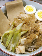 鶏のみぞれ煮と高野豆腐のダイエットお蕎麦の写真