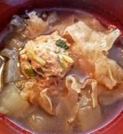 薬膳!大根と白きクラゲと肉団子のスープの写真