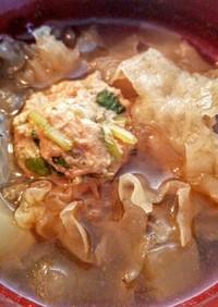 薬膳!大根と白きクラゲと肉団子のスープ