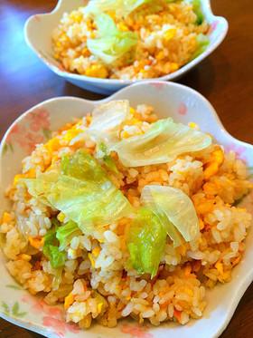 ツナと卵のレタス炒飯