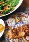 鮭のゴマ味噌焼き
