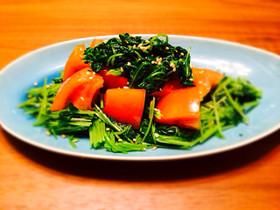 茹で豆苗とトマトのサラダ