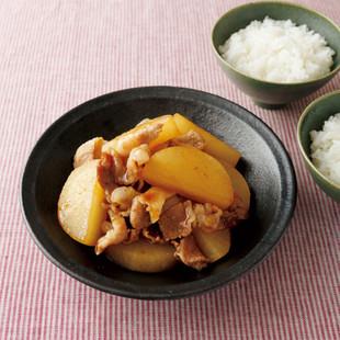 大根と豚バラ肉の照り煮