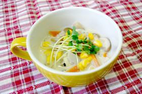 胃や肝臓にやさしい!とろり豆乳スープ