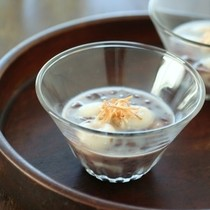 ココナッツミルクと小豆のお汁粉