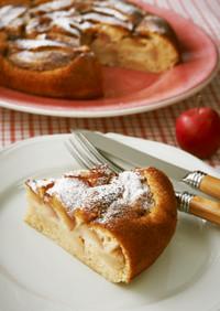 フライパンで作る♡シナモンアップルケーキ