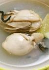 冷凍牡蠣のぷっくりスープ。