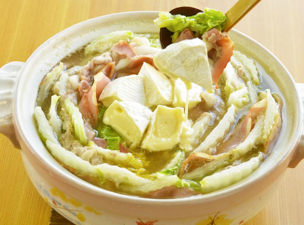 カマンベールミルフィーユ鍋
