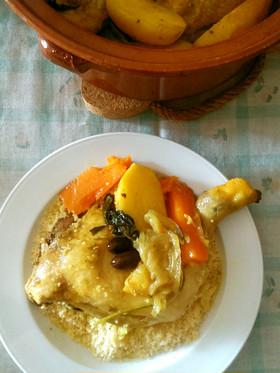モロッコ風チキンと野菜のタジン