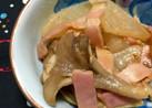 時短!大根・ベーコン・舞茸のオイマヨ和え