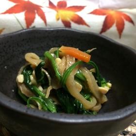 美味簡単!青菜と切り干し大根煮の納豆和え