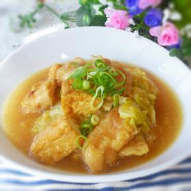 フライパン1つ簡単♡鶏肉と白菜のみぞれ煮 : クックパッドの ...