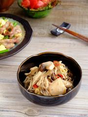 どっさりキノコと鶏胸肉の中華風南蛮和え☆の写真
