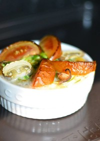 ココットカマンで野菜たっぷりスープ