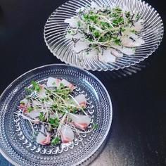 【糖質オフ】簡単♡鯛のカルパッチョ♡
