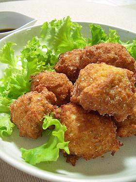 れんこんと鶏ひき肉のふわふわ揚げ