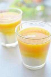 飲むヨーグルトでマンゴーラッシー!の写真
