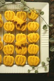 mハロウィンに♪かぼちゃクッキーの写真
