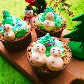 簡単♡HMで作るカップケーキクリスマス