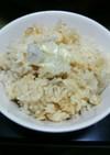 里芋とチーズの炊き込みご飯