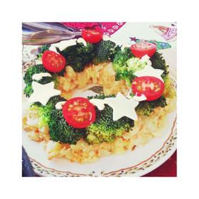 クリスマスリース☆明太ポテトサラダ