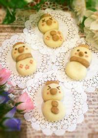 クリスマスにHMで簡単♡雪だるまクッキー