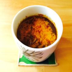 熊本電鉄カレーのオニオングラタンスープ
