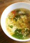 5分で完成♡レタスとトマトの中華スープ