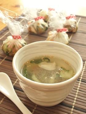 中華風<スープ玉>青梗菜&しいたけ