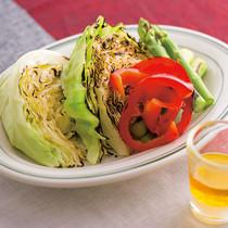 焼き野菜のレモンオイル添え