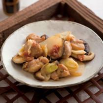 鶏肉とこんにゃくの梅みそ煮
