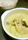 大豆のお肉とサツマイモのイエローカレー