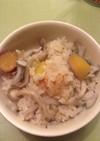 きのことサツマイモの炊き込みご飯