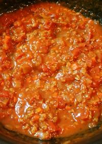 大豆のお肉・ミンチタイプでミートソース