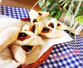 ライ麦・全粒粉でベーコンエピ風ハードパン