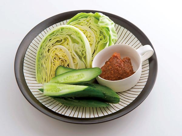 生野菜のみそディップ
