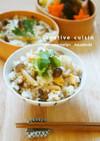 シャンタン中華のシメジ炊き込みご飯
