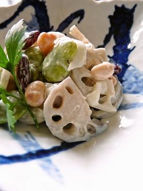 レンコンとお豆のさっぱりサラダ